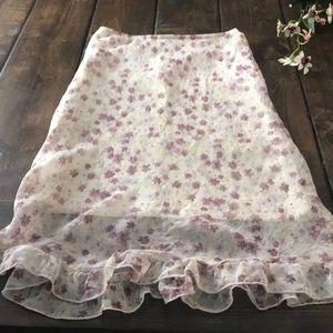 XS Women's long skirt floral